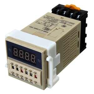 AC 220V 5A программируемое двойное реле задержки таймера устройство инструмент DH48S-S