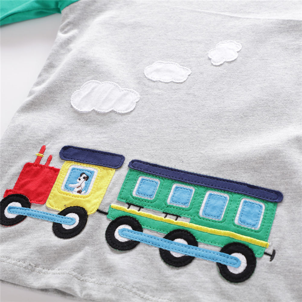 Littlemandy Boys T shirt Ubrania dla dzieci 2018 Dinozaur Animal Kids - Ubrania dziecięce - Zdjęcie 4