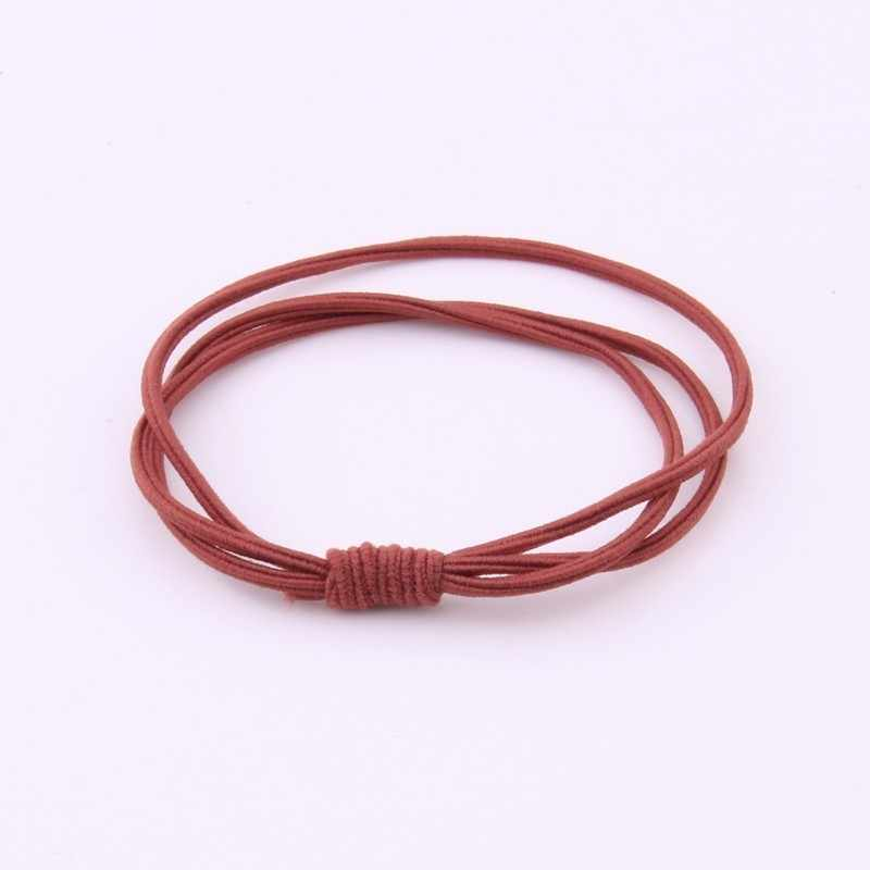 Solid Hair Gums For Women Casual High Elasticity Three-piece Elastic Hair Bands For Girls Soft Hair Rope Ponytail Rubber Bands