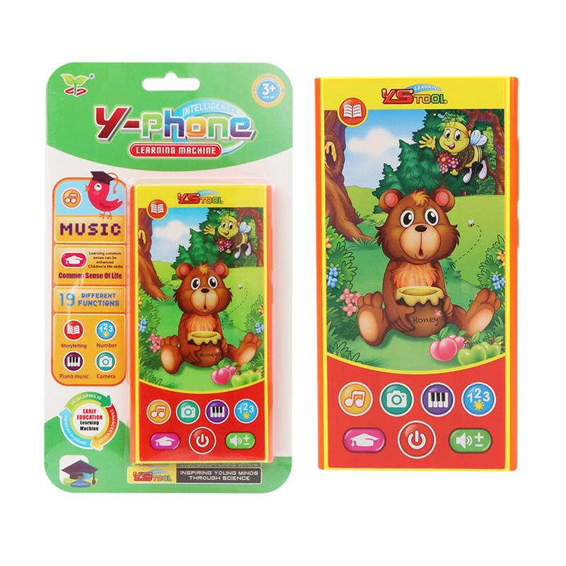 Ingenious Baby Smartphone Early Learning Machine Story Machine Bedtime Story Eating Honey Bear Type Educational Toy Holiday Birthday Gift Easy And Simple To Handle