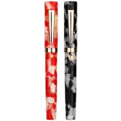 KICUTE 2 patrón 0,5 0,38mm pluma estilográfica Mini pluma corta de acrílico de resina con caja de regalo para regalo de Navidad