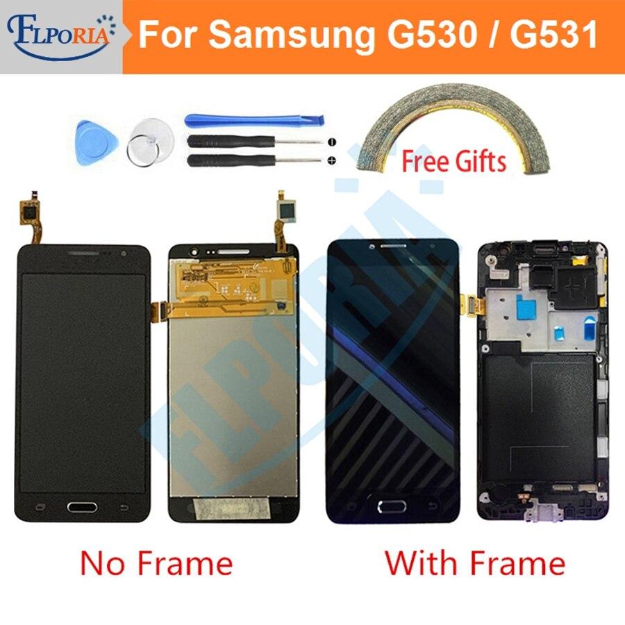Pour Samsung Galaxy Grand Prime G531 G531F SM-G531F G531H LCD écran tactile numériseur assemblée avec cadre pour Samsung G530