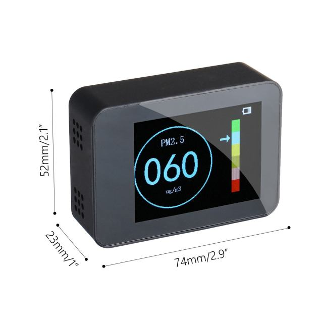 Portable digital dispaly pm2.5 detector laser sensor accurate home air quality monitor tester li-ion battery diagnostic tools