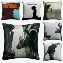 The Last Guardian Game Decorative Cotton Linen Cushion Cover 45x45cm For Sofa Chair Pillowcase Home Decor Almofada