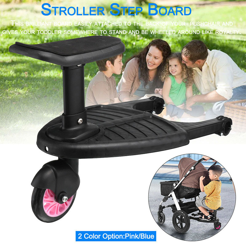 Kids Safety Comfort Wheeled Pushchair Stroller Step Standing Board Up To 25Kg Scooter Stroller Accessories