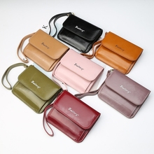 Card Bag Portable Zipper Ladies Short Wallet Tri-Fold Cross-Section Style Patent Leather Cute Small Purse