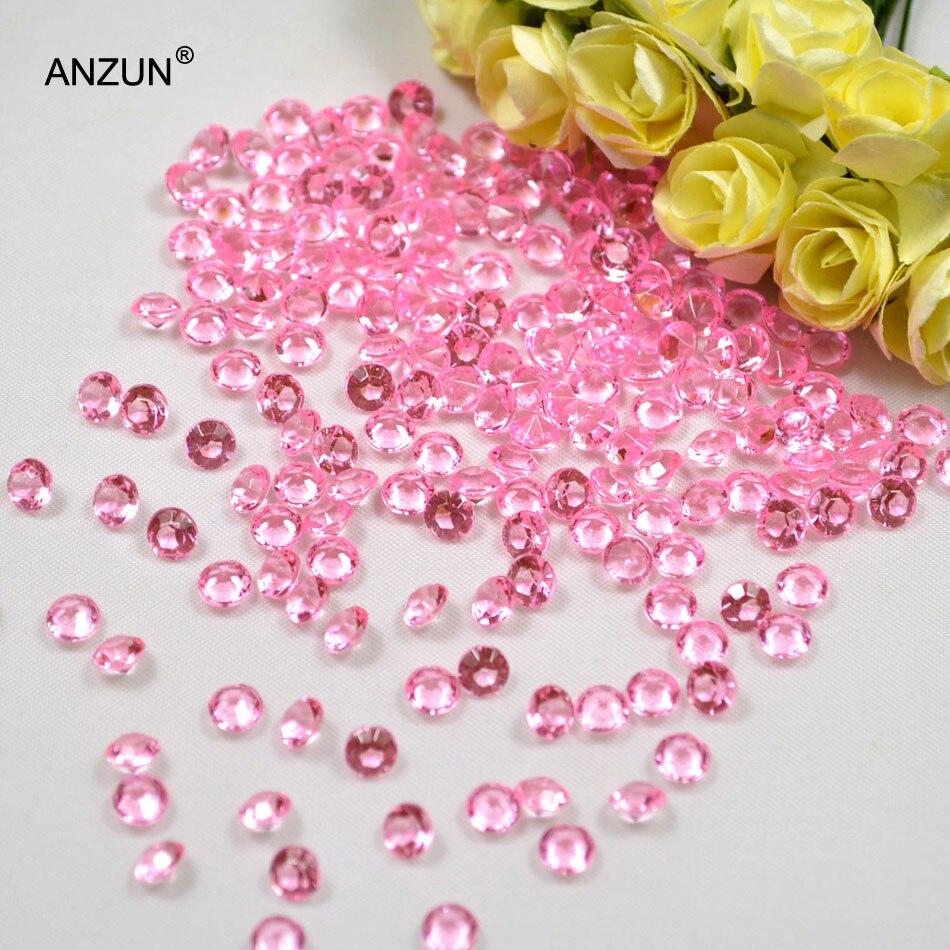 1000 шт 6 мм Свадебная вечеринка алмазные Конфетти Свадебные для декорации стола