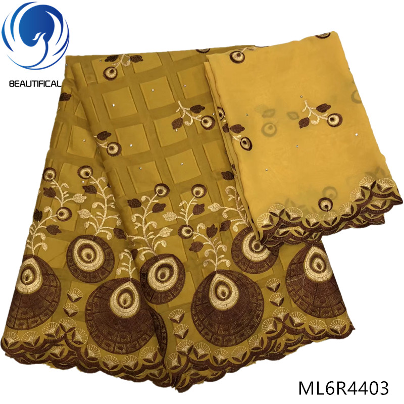 BEAUTIFICAL cotton lace 5 yard african lace embroidery cotton african swiss voile lace fabric 7yards/lot for dresses ML6R44