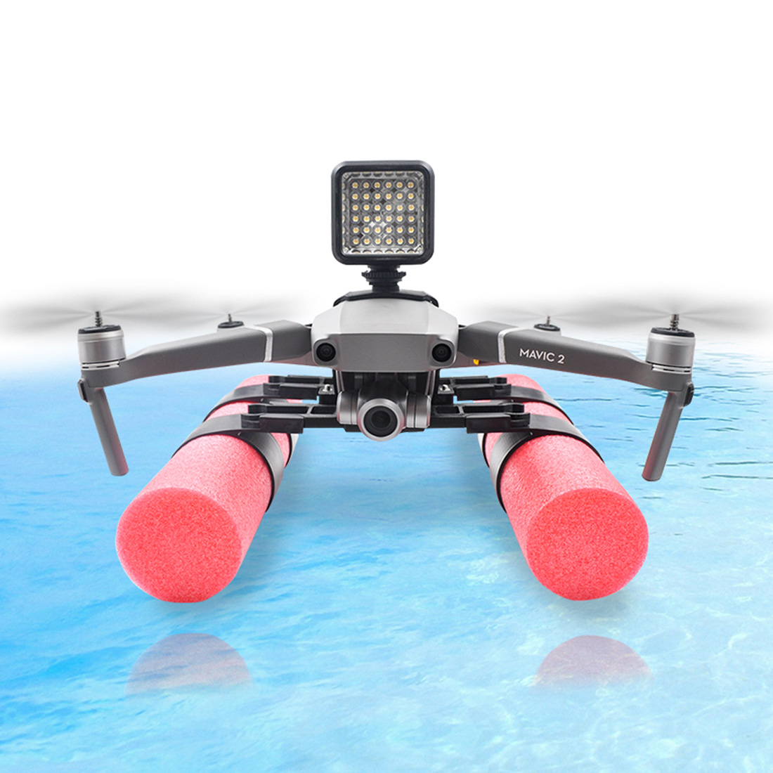 Extended Landing Gear Skid Training Floating Bobber Fixer Set For DJI Mavic 2 Pro/ Mavic 2 Zoom With  Buoyancy Rod Holder