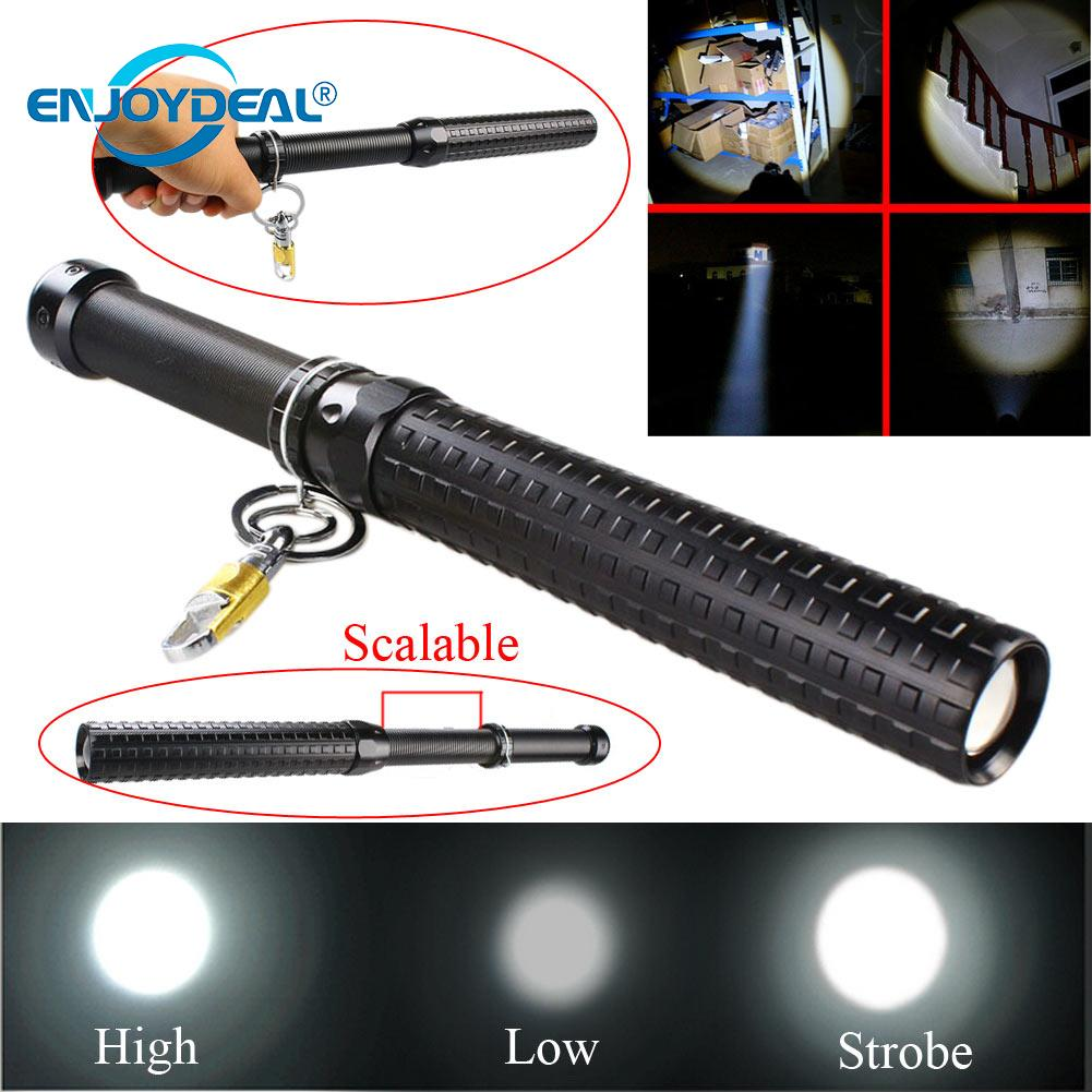 2000 Lumen Q5/R2 LED Flashlight Zoomable Baseball Bat Security Torch Lamp Super Bright Baton Torch for Emergency Self Defense2000 Lumen Q5/R2 LED Flashlight Zoomable Baseball Bat Security Torch Lamp Super Bright Baton Torch for Emergency Self Defense