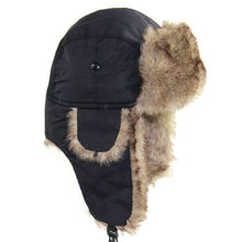 Зимняя шапка теплая унисекс зимняя авиаторская ушанка русская