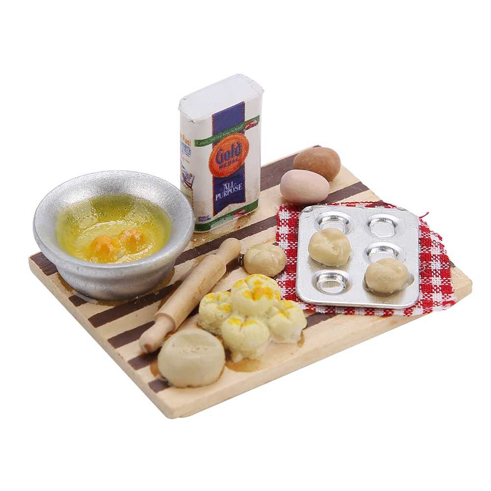 New Miniature Food Bread Cooking Board  Play House Toy Dollhouse Accessories for 1/12 Scale Doll