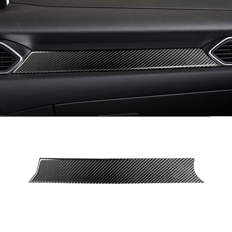 Image 2 - For Mazda CX 5 CX 5 2017 2018 Carbon Fiber Car Center Console Dashboard Panel Cover ONLY LHD-in Interior Mouldings from Automobiles & Motorcycles