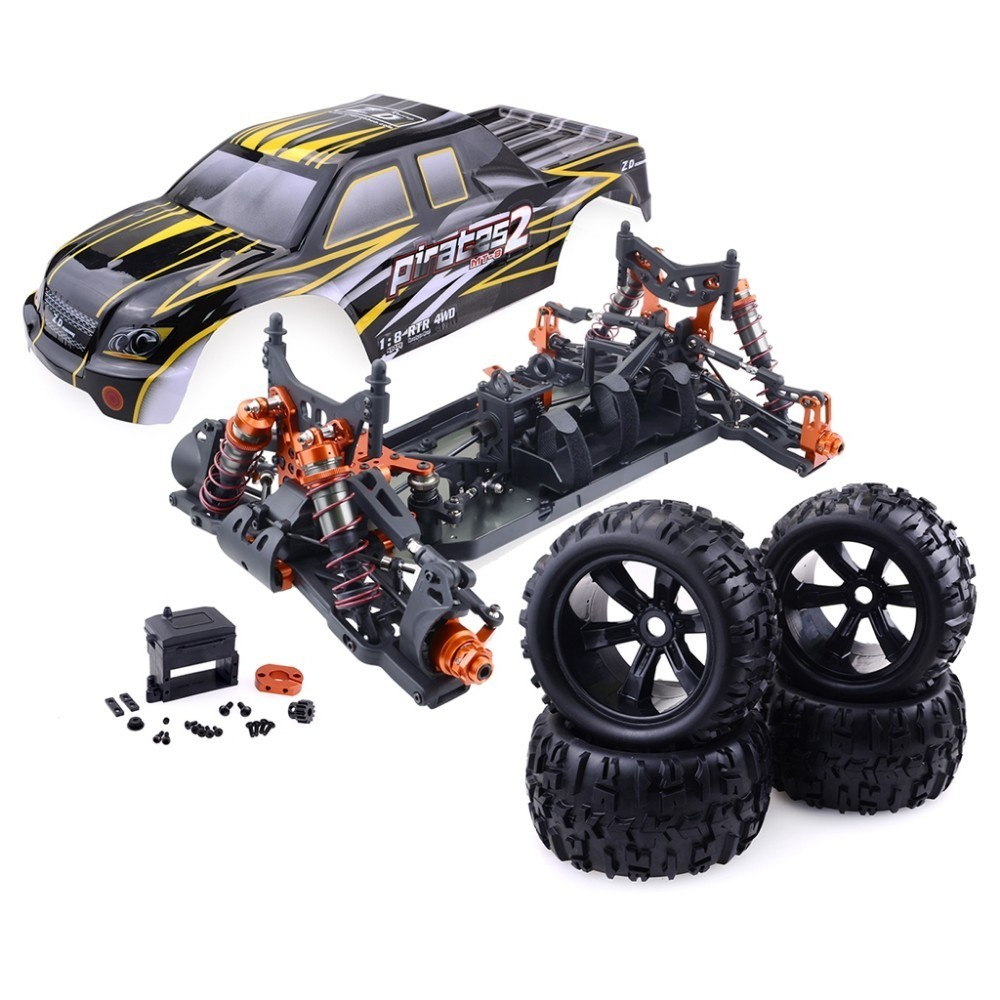 Race Truck Car 4WD Brushless Technic Building Block Sets DIY Toy Remote Control Racing Cars Monster Frame Kit Children Toys