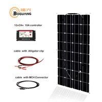 Boguang 100 w монокристаллического кремния солнечные панели, ячейки модуль 12 V/24 V/10A контроллер 1*2,5 мм кабель MC4 разъем распределительная коробка