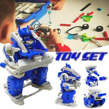 Jouet Cerveau Innovant Puzzle Insertion Électrique Assemblage Voiture Déformation Dessin Jeu De Construction Animé Robot Blocs Bricolage Modèle I2YWEDH9