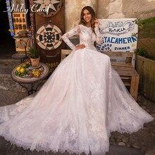 Ashley Carol Long Sleeve Wedding Dress 2019 Party Dress