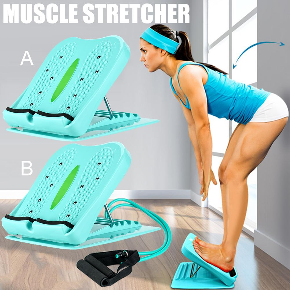 Portable Ankle Foot Calf Stretcher Slant Board Adjustable Balancing Stretching Board For Hamstring Achilles Calves Muscle Train image