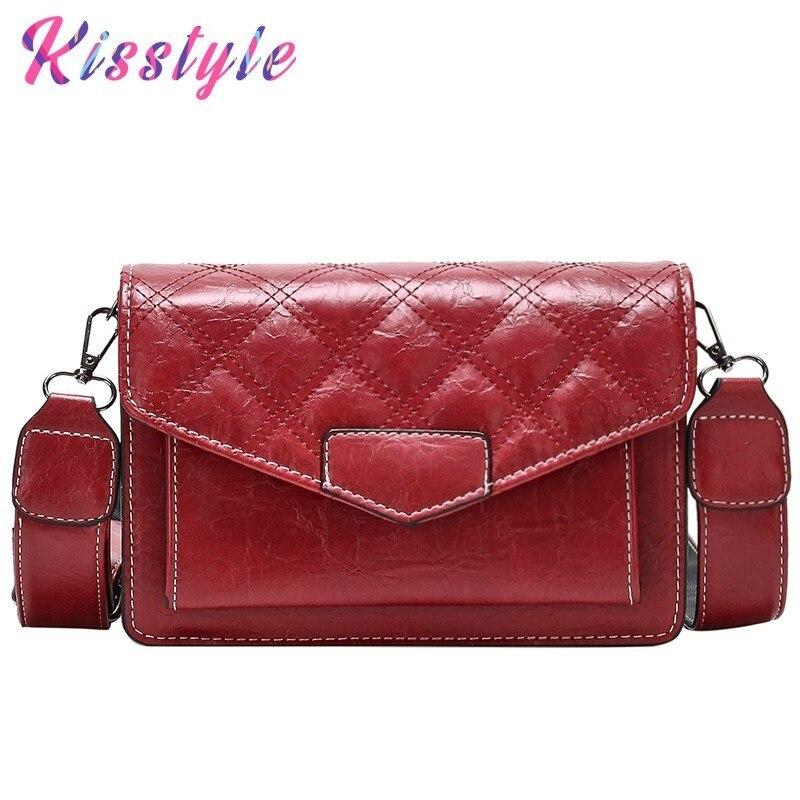 6d44305e2df1 Kisstyle модная маленькая квадратная сумка винтажная Женская одинарная сумка  на плечо роскошные сумки женские сумки из