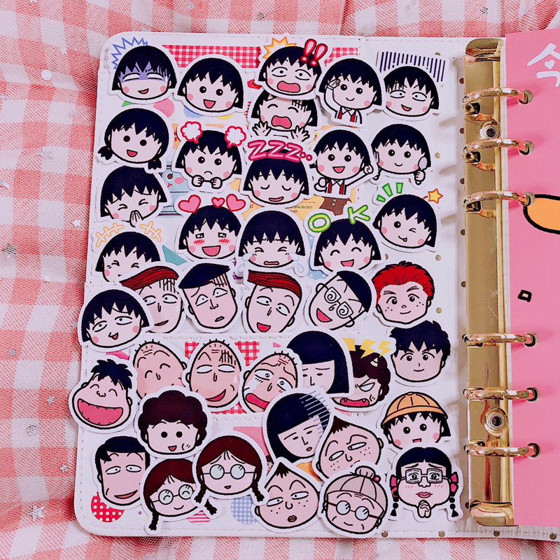Купить с кэшбэком 40Pcs/Pack Hot Ins Cute Comic Avatar Expression Sticker Flakes Hand Book Cosas Kawaii Decoration Essential Decoration Stickers