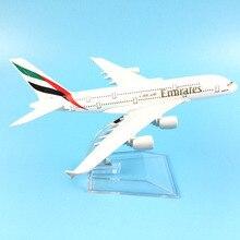Modelo de aeronave emirates airbus a380 16cm metal diecast modelo de avião modelo de avião crianças brinquedos