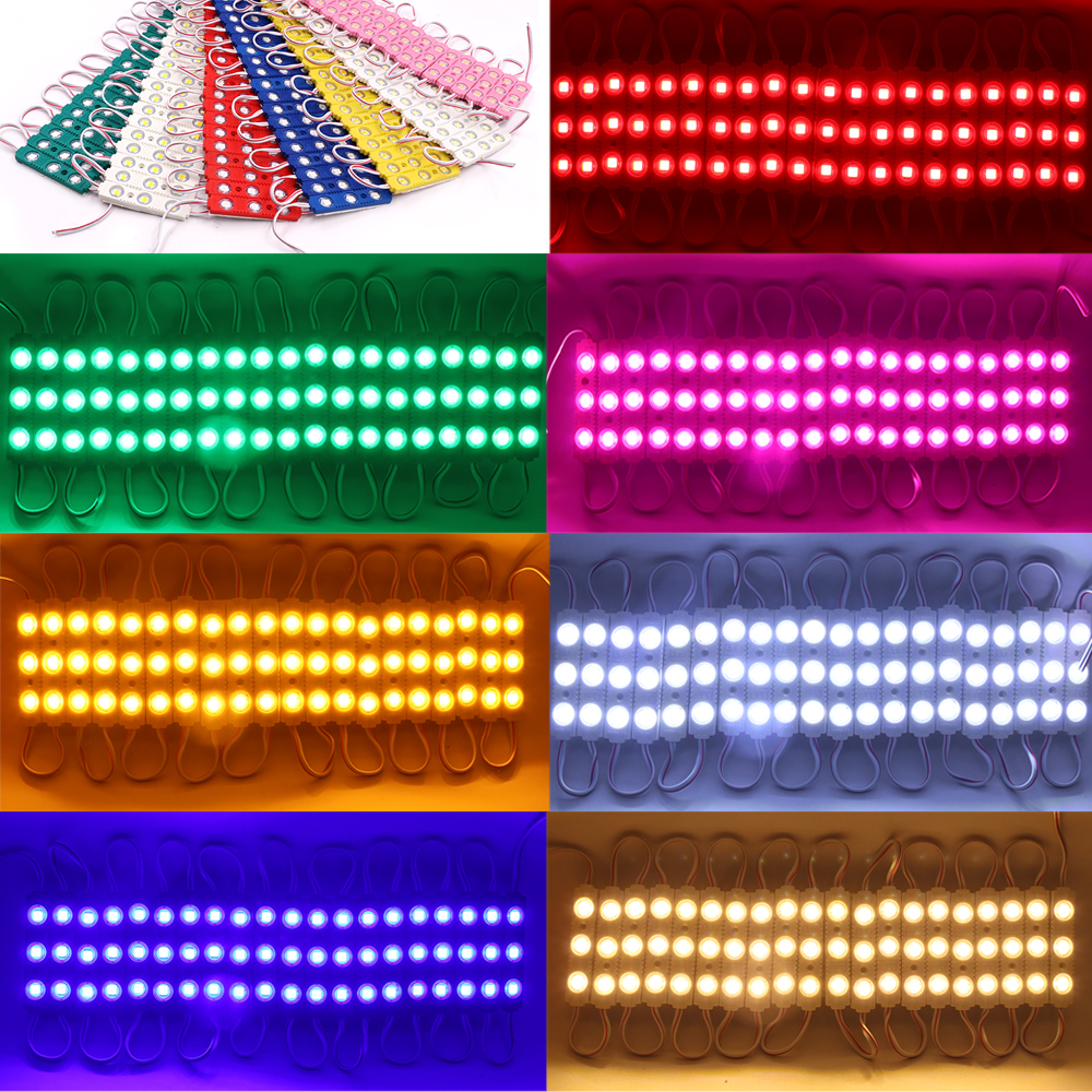 Newest SMD 5054 Led Strip 3Leds Pixel Module Outdoor Advertisement Design Super Bright 5050 Cold/Warm White/Red/Blue Light DC12V