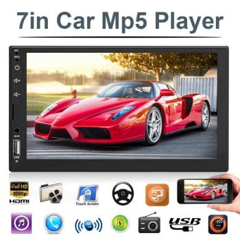"VODOOL 7703B 2 Din 7"" Touch Screen Car Stereo MP5 Player Autoradio Car Radio FM Bluetooth USB AUX Multimedia Audio Video Player"