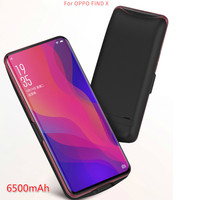 6500mah Battery Charger Cases For Oppo Find X Battery Case Cover External Backup Power Bank Charging Case Powerbank Charger Case