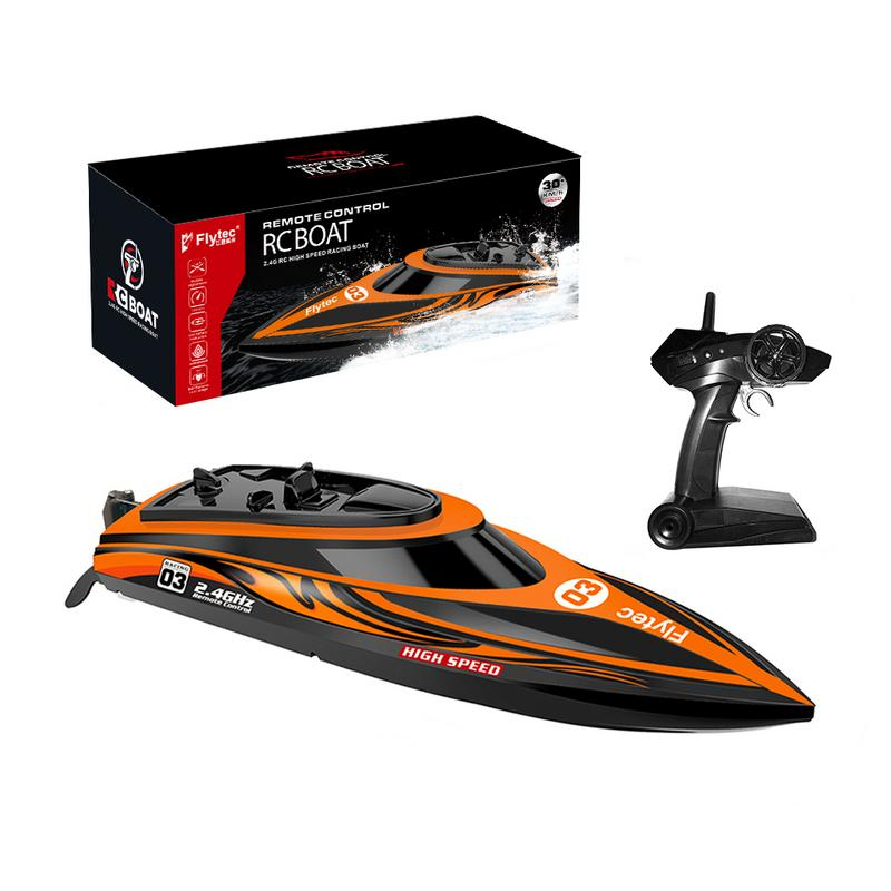 Pour Flytec télécommande bateau course bateau à rames Induction d'eau haute vitesse électrique télécommande bateau extérieur jouet bateau à distance