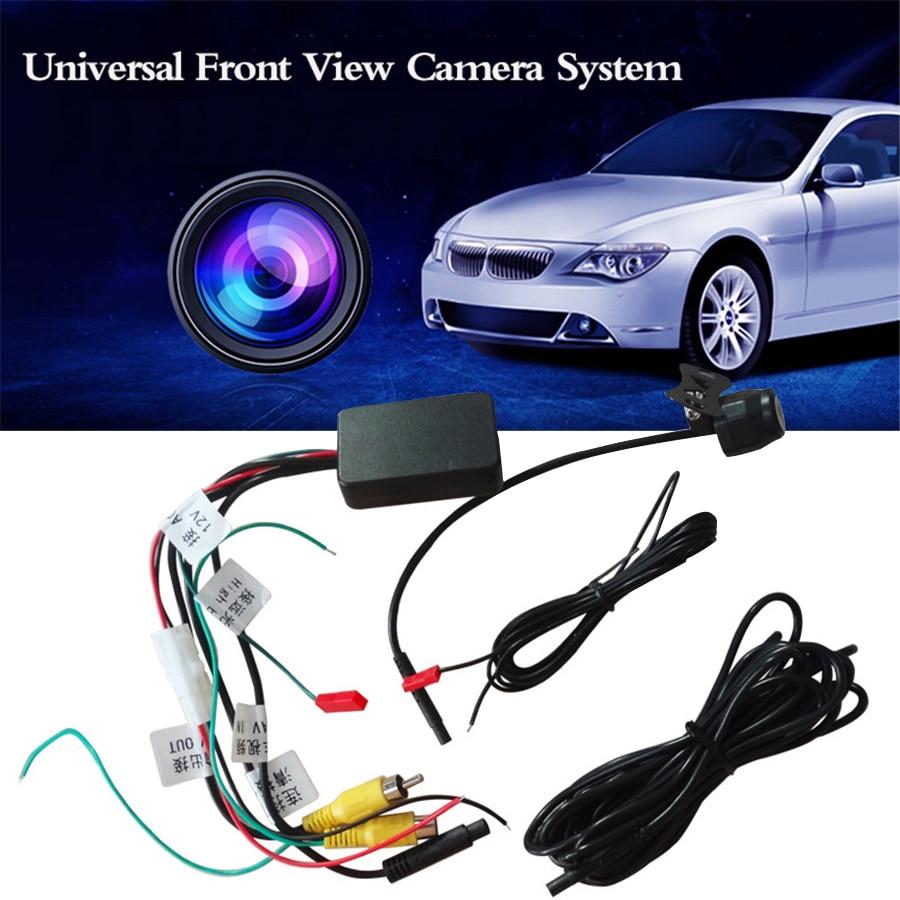 Universal HD Vue de Face système de caméra grand angle Étanche Avant De la Voiture Arrière vue caméra Vidéo interrupteur automatique de Contrôle