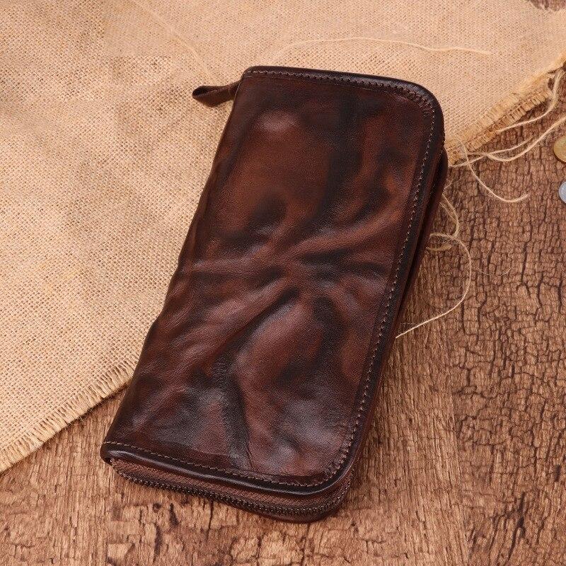 Original Innovations rétro mode portefeuille en cuir pour homme affaires décontracté sac pour hommes à la main en cuir longue pochette