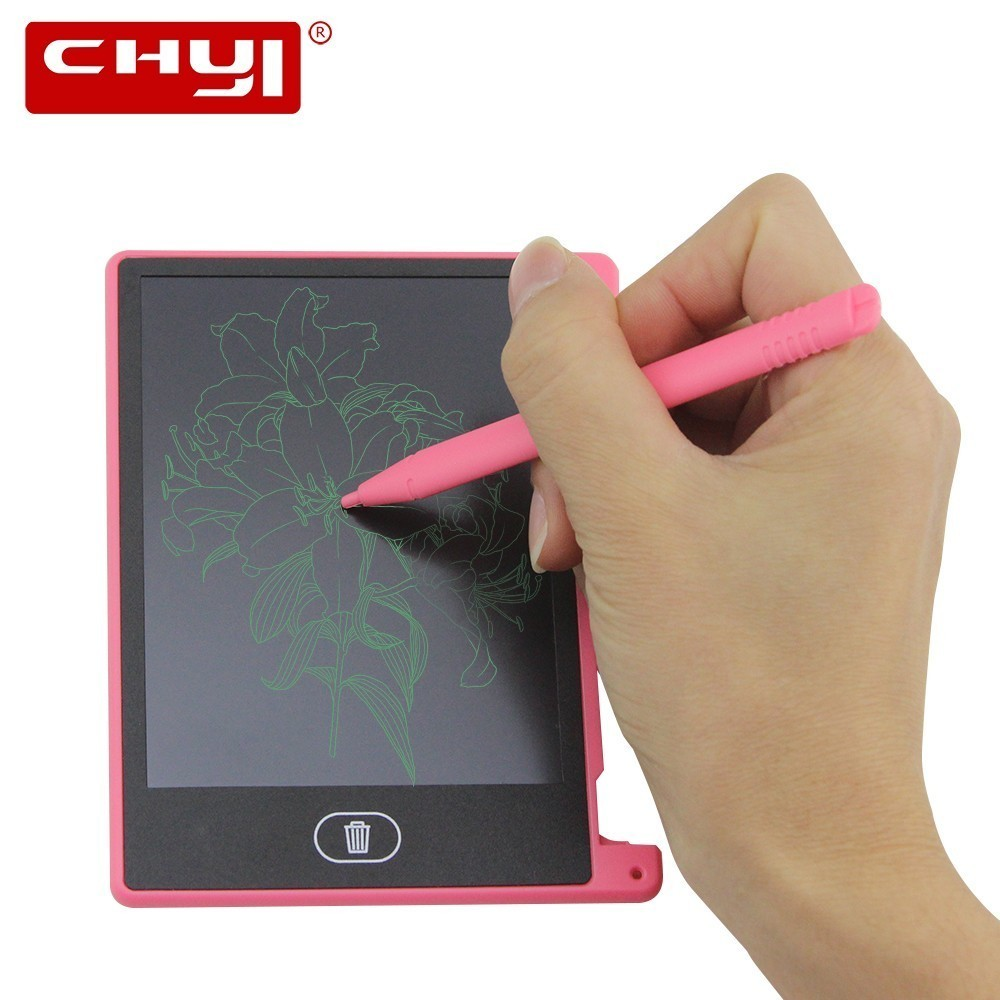 CHYI 4.4 Inch LCD Writing Tablet Mini Digital Electronic Graphic Tablets Notepad Handwriting Pad Memo Drawing Board For Kids