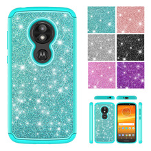 6e9c32c4794 Tobebest Phone Cases for Motorola Moto Play E5 Cruise Glitter Crystal  Sequins