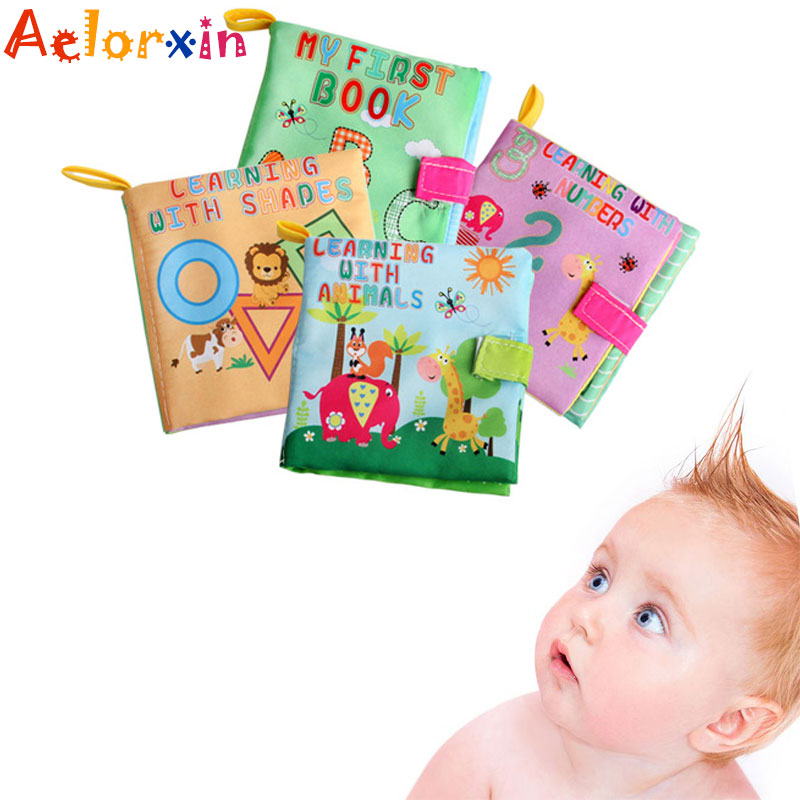 Baby Toys Soft Cloth Books Sound Infant Educational  Rattle Toy Newborn Toys 0-36 Months Toys For Children