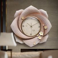 Современная роскошь выбивает полимерные настенные часы Украшения Творческий личные часы дома висит немой кварцевые часы фотообои с орнаме