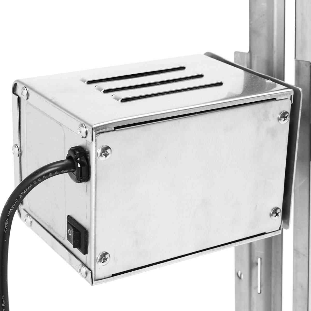15 W AU Berkemah Di Luar Ruangan Listrik Otomatis BBQ Grill Panggangan Motor Panggang Cabang Logam Meludah Roaster Batang Arang Ayam Babi