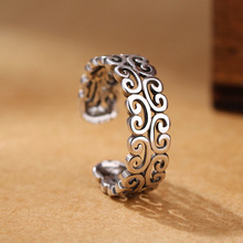 2019 new arrival 925 sterling sliver cloud flower vintage ring adjustable women my aliexpress orders jewelry solitaire