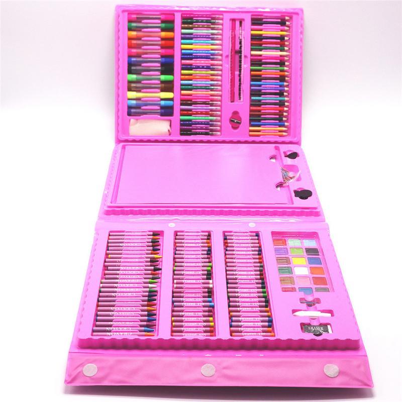 208 pièces enfants peinture ensemble peinture à l'huile bâtons dessin brosses élémentaire eau couleur stylos esquisse Crayons cadeaux - 3