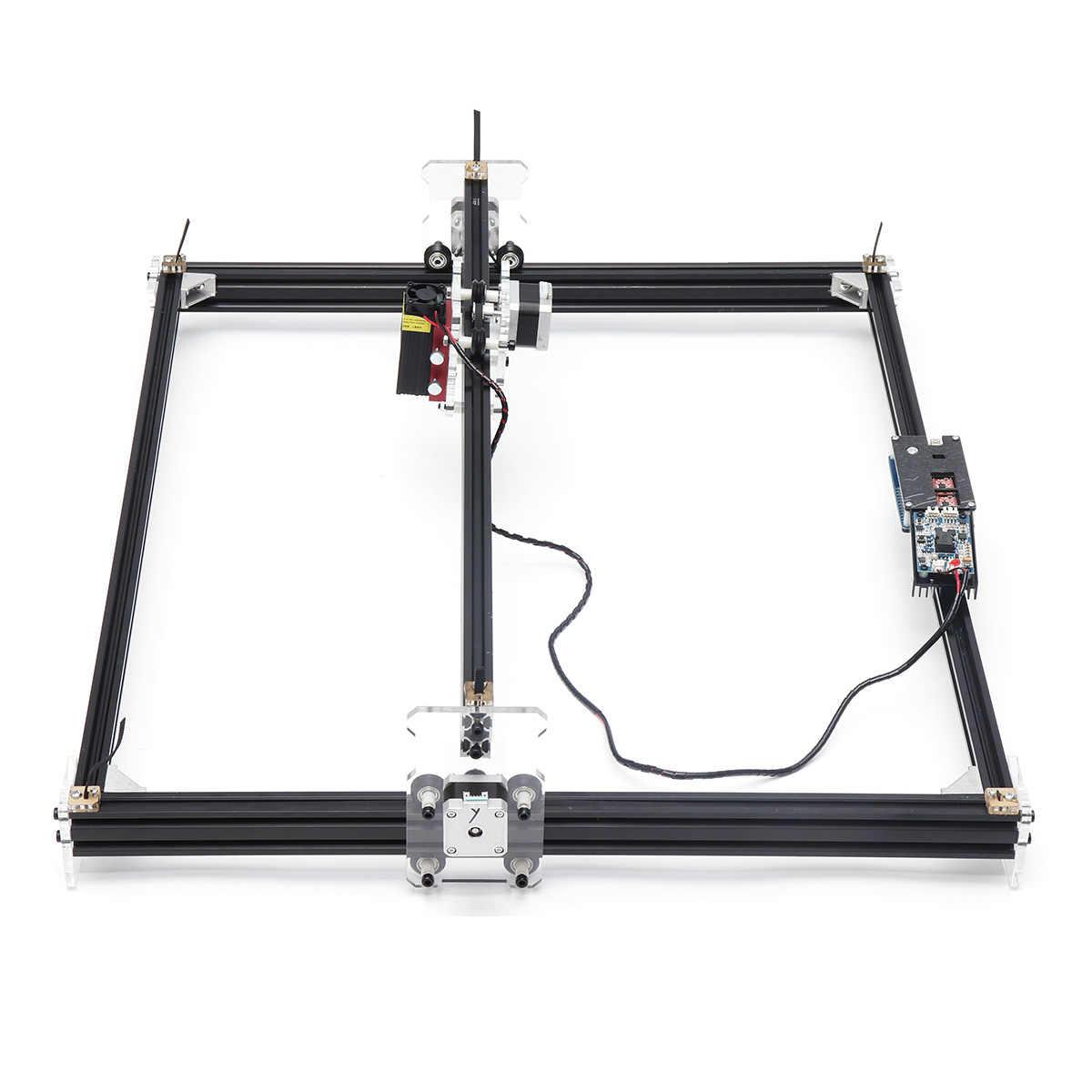 2500 mW profesional 65*50 cm de escritorio automático Mini CNC grabador láser cortador hogar bricolaje herramienta grabado corte de madera máquina de enrutador