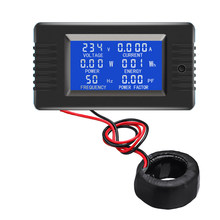 PZEM-022 Coil CT Closed Transformer 100A AC Digital Display Power Monitor Meter Voltmeter Ammeter Frequency Factor Meter(China)