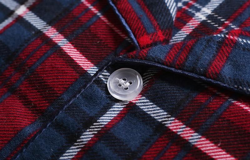 Image 5 - Новинка, 100% хлопок, мужской осенне зимний Пижамный костюм с длинными рукавами и брюками, красная фланелевая одежда для сна в клетку, бархатный мягкий комплект одежды-in Пижамные комплекты для мужчин from Нижнее белье и пижамы on AliExpress - 11.11_Double 11_Singles' Day