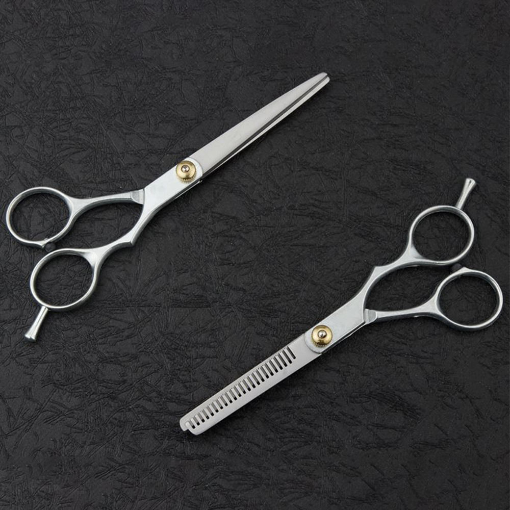 Hair Scissors Pro Salon Hair Cutting Thinning Scissors Barber Shears Hairdressing Tool Kit Set in Hair Scissors from Beauty Health