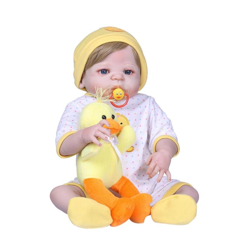 NPK 56 cm belle vinyle 3D réaliste Simulation Reborn bébé poupée enfants Playmate grandes poupées pour filles bébé poupées cadeau compagnon jouet