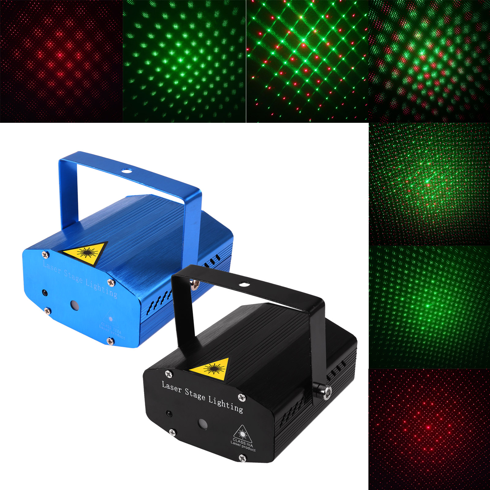 Mini LED Laser Projector DJ Lamp Laser Disco Light Laser Light Voice-Activated DJ Disco Xmas Party Club Light With Remote