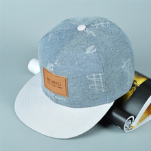 Newest Denim Hat Affixed Cloth Letters Casual Fresh Graffiti Hip Hop Baseball
