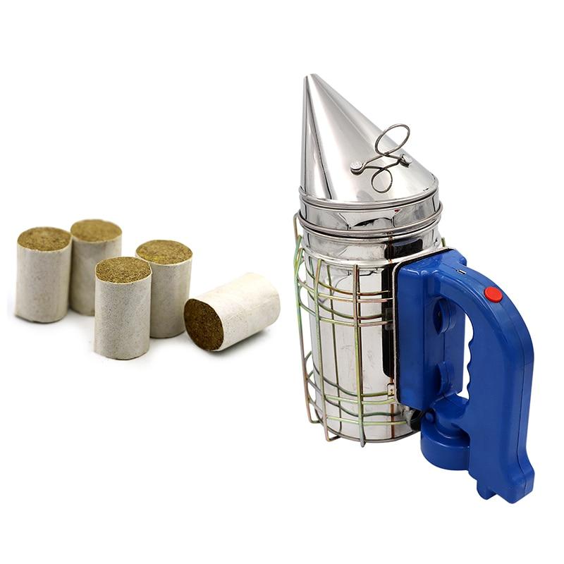 Пчелиный инструмент из нержавеющей стали, Электрический передатчик пчелиного дыма, электрический инструмент для пчеловодства, пчеловодче...