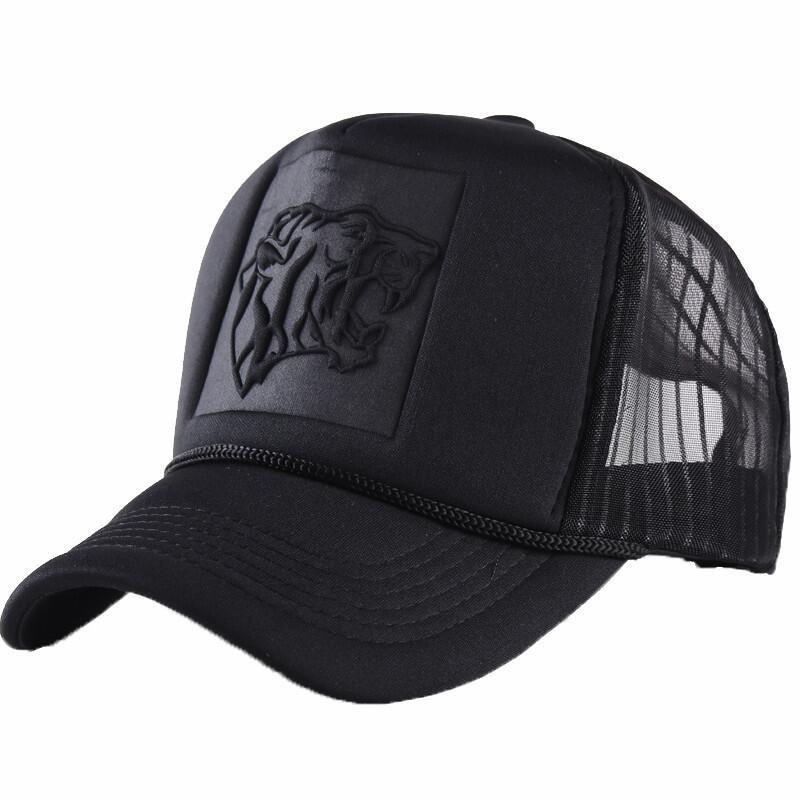 Summer Mesh Black Leopard Print Curved   Baseball     Caps   For Women Men Snapback Hats Casquette Trucker Net   Cap   Sun Visor Hip Hop Hat