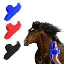 Инструмент для чистки лошадей, массажная пластиковая щетка, инструмент для ухода за лошадьми, оборудование, гребень для хвоста гривы, Массажная щетка, щетка для скребка для пота