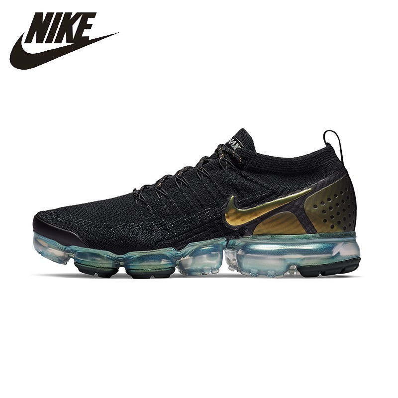 newest 42994 0bc49 Nike Official Air Vapormax Flyknit 2 Man Air Cushion Sneakers Shock  Absorption Lithe Sneakers 942842-in Running Shoes from Sports    Entertainment on ...