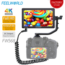 Feelworld FW568 5,5 дюйма DSLR Камера поле монитор DC Выход для Камера 4 K HDMI Full HD 1920×1080 ЖК-дисплей ips видео фокус помощь